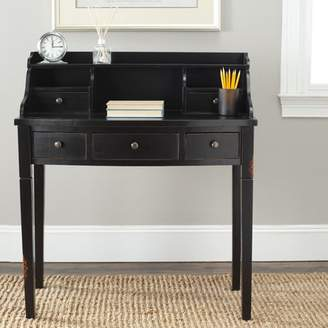 Beachcrest Home Lisa Writing Desk & Hutch