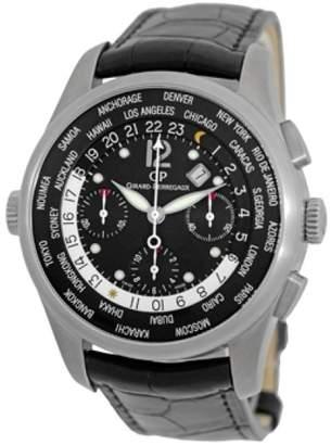 "Girard Perregaux World Wide Time Control "" WW.TC"" Chronograph Titanium Mens Strap Watch"