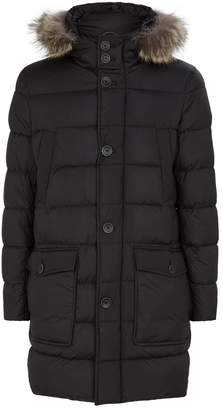 Herno Coyote Fur Trim Padded Jacket
