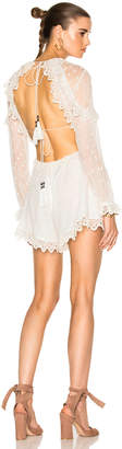 Zimmermann Divinity Scallop Ruffle Playsuit $695 thestylecure.com