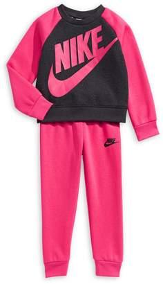 Nike Little Girl's 2-Piece Heathered Sweatshirt Pants Set