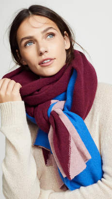 White + Warren Cashmere Instarsia Travel Wrap Scarf