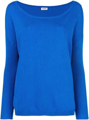 Liu Jo ribbed sleeve bateau sweater