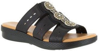 Easy Street Shoes Slide Sandals - Nori