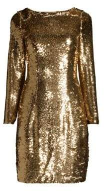 Aidan Mattox Sequin Cocktail Shift Dress