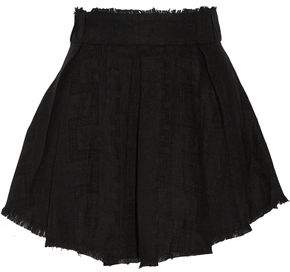 IRO Acanta Pleated Linen-Jacquard Mini Skirt