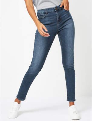George Mid-Wash Denim Skinny Fit Jeans