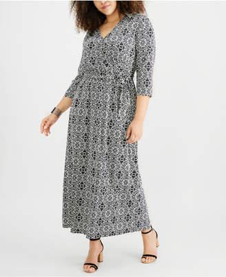 173b64ecbe6 NY Collection Plus Size Empire-Waist Maxi Dress