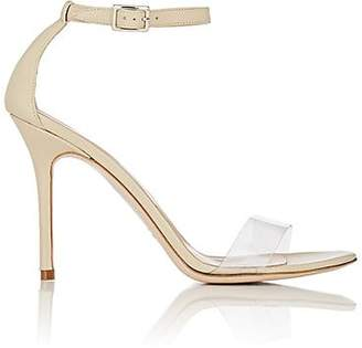 Barneys New York Women's Leather & PVC Ankle-Strap Sandals - Sand