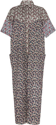 Etoile Isabel Marant Lindsie Patchwork-Effect Printed Linen Jumpsuit