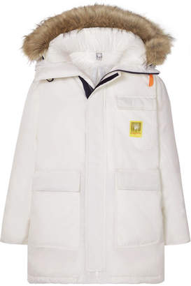 Brumal - Hooded Faux Fur-trimmed Shell Down Parka - White