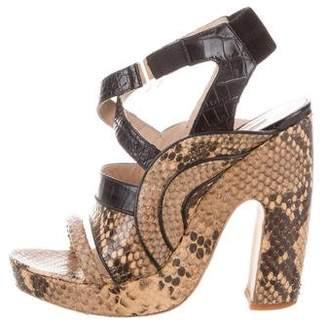 Dries Van Noten Embossed Platform Sandals