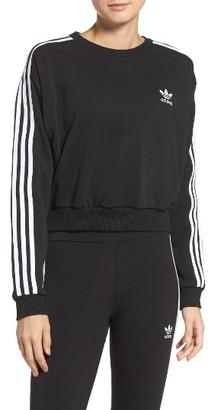 Women's Adidas Originals 3-Stripes Crop Sweatshirt $60 thestylecure.com