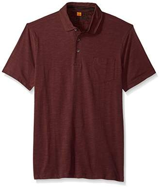 Tailor Vintage Men's Short Sleeve Stretch Slub Jersey Pocket Polo