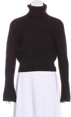 Fendi Cropped Turtleneck Sweater