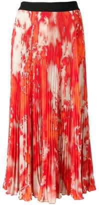 MSGM micro pleated midi skirt