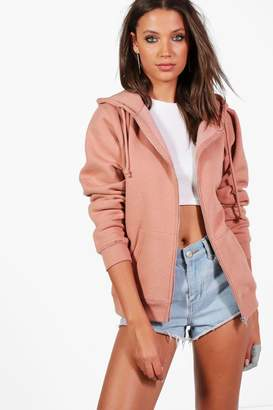 boohoo Tall Zip Through Hoodie