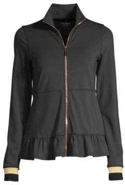 Kate Spade Ruffle Hem Zip Jacket