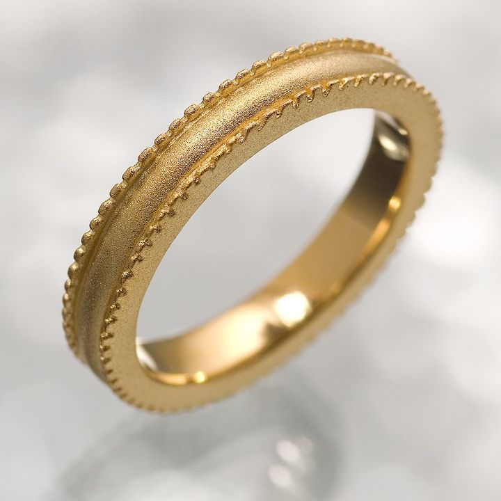 Simply vera vera wang 18k gold-over-silver beaded eternity band