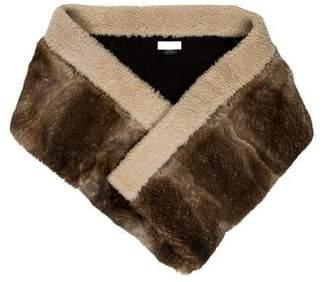 Dries Van Noten Shearling-Trimmed Fur Scarf