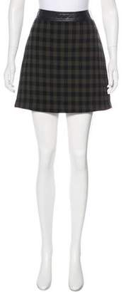 A.L.C. Virgin Wool Gingham Skirt