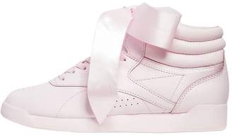 Freestyle Bow Leather High Top Sneakers