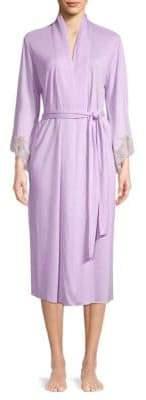 Natori Lace-Cuff Robe