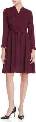 Nanette Lepore Nanette Belted Long Sleeve Shirtdress
