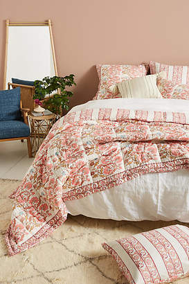 Anthropologie Artisan Quilts by Block-Printed Fields Quilt