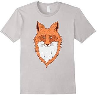Orange Hipster Fox Head Drawing Fox T-Shirt