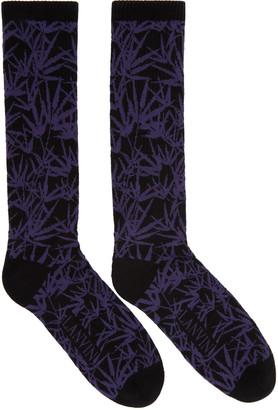 Lanvin Black Jacquard Socks $70 thestylecure.com