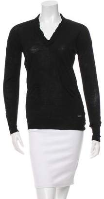 CNC Costume National Long Sleeve Wool & Silk Top