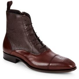 Cap Toe Leather Ankle Boots $475 thestylecure.com