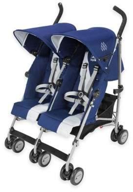 Maclaren® Twin Triumph Double Stroller in Blue/Silver $349.99 thestylecure.com