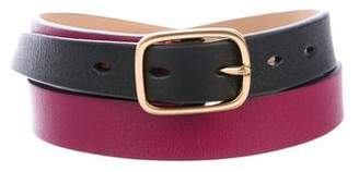 Paul Smith Colorblock Skinny Leather Belt w/ Tags