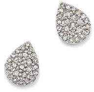 Adina Sterling Silver Pavé Diamond Teardrop Stud Earrings