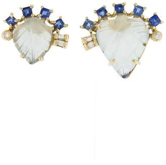 Noga Eva Labelia Stud Earrings - Yellow Gold