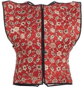 Etoile Isabel Marant Mandie Floral Reversible Linen Vest