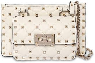 Valentino MINI ROCKSTUD SPIKE LEATHER SHOULDER BAG