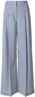Jil Sander Navy high waist tailored wide leg trousers