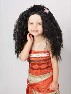 07a2af674a2 Disney George Moana Fancy Dress Wig