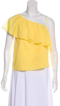 Alice + Olivia One-Shoulder Silk Top w/ Tags