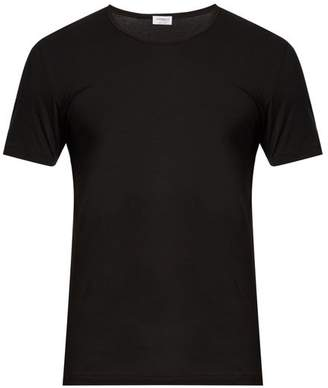 Zimmerli - Pure Comfort Stretch Cotton T Shirt - Mens - Black