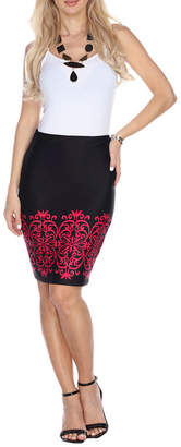WHITE MARK White Mark Victoria Pencil Skirt