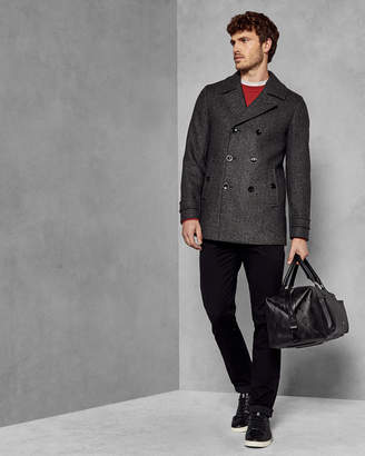 7d2b5d7c67b72 Ted Baker GRILLD Double breasted wool pea coat