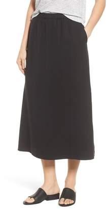 Eileen Fisher Tencel(R) Lyocell & Linen Midi Skirt