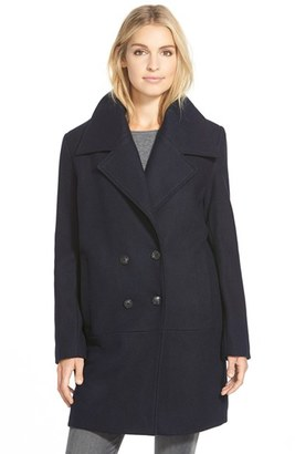Women's Marc New York 'Natalie' Twill Wool Blend Boyfriend Coat $258 thestylecure.com
