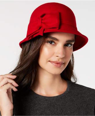 INC International Concepts I.N.C. Bow Wool-Felt Cloche, Created for Macy's