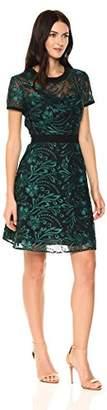 Rachel Roy Women's Short Sleeve Corded Lace Dress