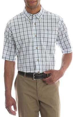 Wrangler Big Men's Short Sleeve Wrinkle Resist Plaid Shirt